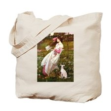 Windflowers / Ital Greyhound Tote Bag