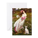 Windflowers / Ital Greyhound Greeting Cards (Pk of