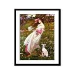 Windflowers / Ital Greyhound Framed Panel Print