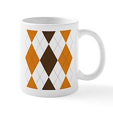 Orange and Brown Argyle Mug