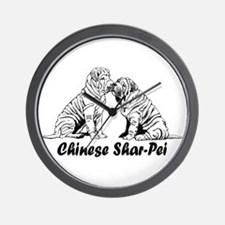 Chinese Shar-Pei Wall Clock