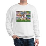 Lilies2/Italian Greyhound Sweatshirt