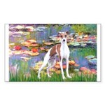 Lilies2/Italian Greyhound Sticker (Rectangle)
