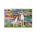 Lilies2/Italian Greyhound Rectangle Magnet