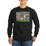 Lilies2/Italian Greyhound Long Sleeve Dark T-Shirt