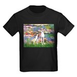 Lilies2/Italian Greyhound Kids Dark T-Shirt