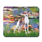 Lilies2/Italian Greyhound Mousepad