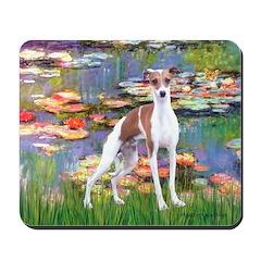 Lilies2/Italian Greyhound Mousepad
