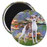 Lilies2/Italian Greyhound Magnet