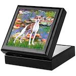 Lilies2/Italian Greyhound Keepsake Box