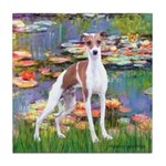 Lilies2/Italian Greyhound Tile Coaster