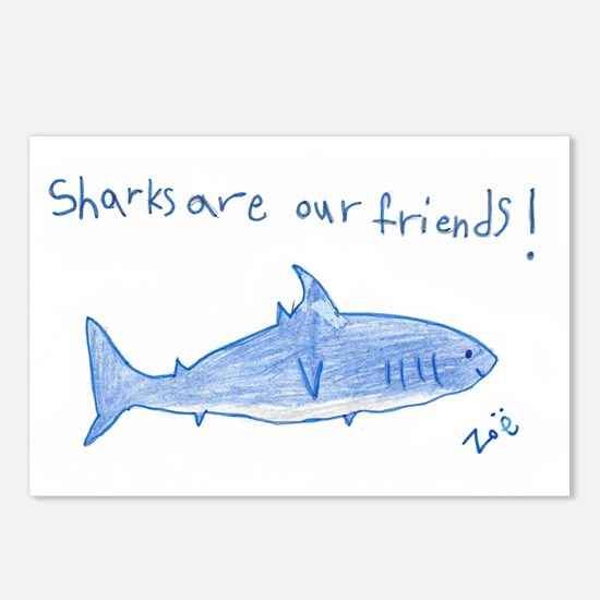 Sharks Are Our Friends Postcards (Package of 8)