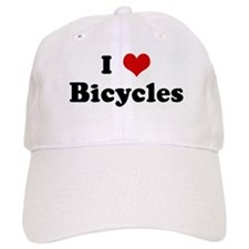 I Love Bicycles Baseball Cap