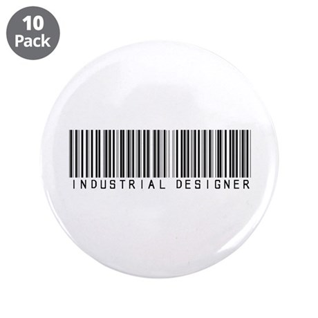 "Industrial Designer Barcode 3.5"" Button (10 pack)"