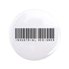 """Industrial Designer Barcode 3.5"""" Button"""