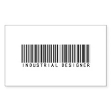 Industrial Designer Barcode Rectangle Decal