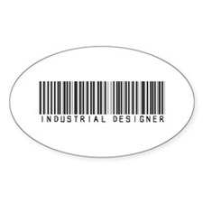 Industrial Designer Barcode Oval Decal