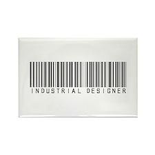 Industrial Designer Barcode Rectangle Magnet