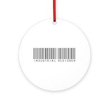 Industrial Designer Barcode Ornament (Round)