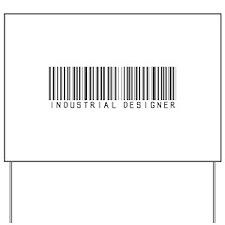 Industrial Designer Barcode Yard Sign