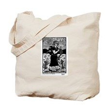 Knitting Pilgrim Tote Bag