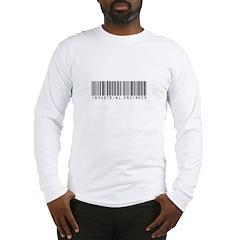 Industrial Engineer Barcode Long Sleeve T-Shirt