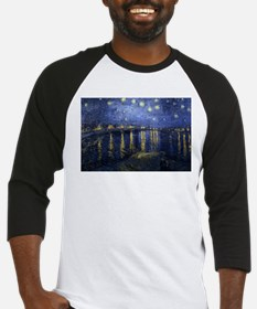 Cute Starry night over rhone Baseball Jersey