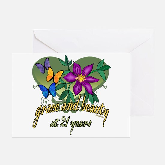Beautiful 21st Greeting Card