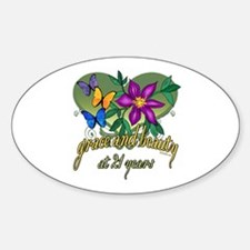Beautiful 21st Oval Decal