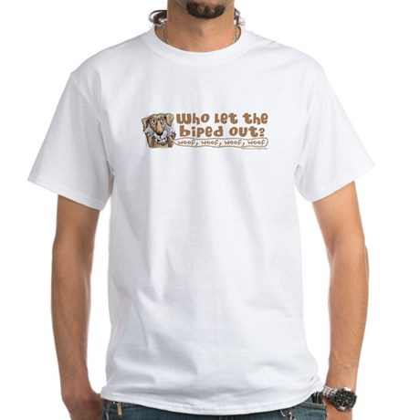 Who let biped out White T-Shirt