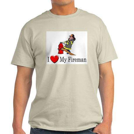 I Love My Fireman Light T-Shirt