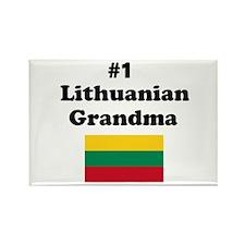 #1 Lithuanian Grandma Rectangle Magnet