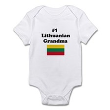 #1 Lithuanian Grandma Infant Bodysuit