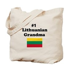 #1 Lithuanian Grandma Tote Bag