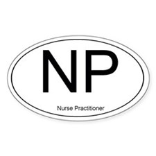 Nurse Practitioner Oval Decal