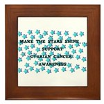OVARIAN CANCER AWARENESS Framed Tile