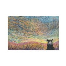 In the colour of evening Rectangle Magnet (100 pac