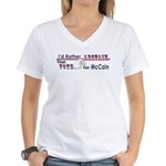 McCain - Abstain Women's V-Neck T-Shirt