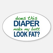 Diaper Fat Butt Oval Decal