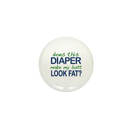 Diaper Fat Butt Mini Button