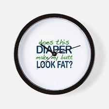Diaper Fat Butt Wall Clock