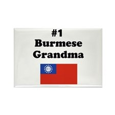 #1 Burmese Grandma Rectangle Magnet