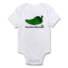 This is How I Wear Green Infant Bodysuit