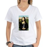 Masterpiece dogs mona and whippet Womens V-Neck T-shirts