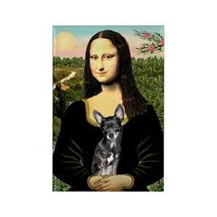 Mona Lisa / Chihuahua Rectangle Magnet (10 pack)