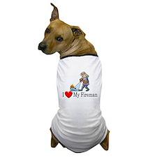 I Love My Fireman Dog T-Shirt