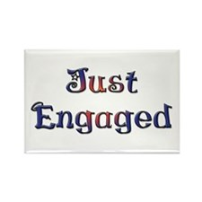 Just Engaged Rectangle Magnet