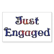 Just Engaged Rectangle Decal