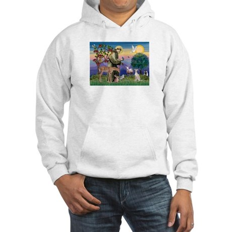 St Francis / Ital Greyhound Hooded Sweatshirt