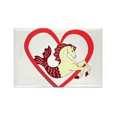 SeaHorse Heart Rectangle Magnet